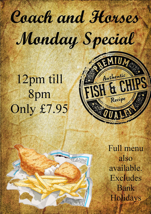 Monday Special at Coach and Horses, Brixworth