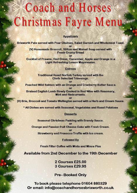 Christmas Fayre at The Coach and Horses, Brixworth
